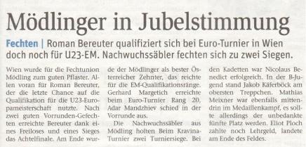 Mödlinger in Jubelstimmung - NÖN KW 09 2018