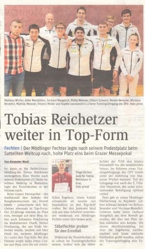 Tobias Reichetzer weiter in Top-Form