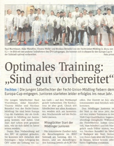 Optimales Training - NÖN KW 02 2018